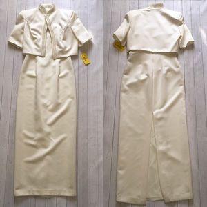 NWT Vintage CACHET Dress & Jacket w/little pearls
